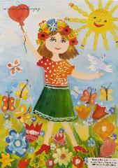 Відкриття виставки дитячих малюнків.